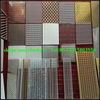 Buy cheap curtain wall perforated mesh wall panels/perforated metal mesh curtian wall from wholesalers