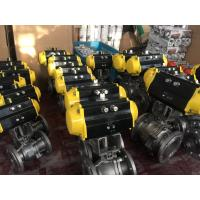 Buy cheap China Stainless Steel CF8/CF8M Pneumatic Actuator Flanged Ball Valve from wholesalers