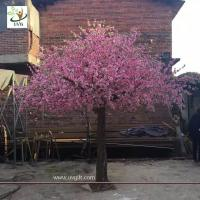 Buy cheap UVG garden wedding decorations fake blossom tree with pink peach flowers 3 meters height CHR154 from wholesalers