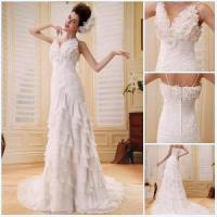 Buy cheap 2012 off-Shoulder Ruffle Wedding Gown (BS-027) from wholesalers