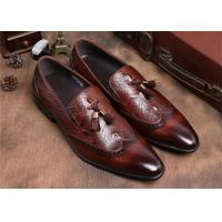Buy cheap Brogue Wingtips Toe Mens Slip On Tassel Shoes , Male Formal Shoes For Suits product