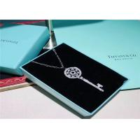 Buy cheap Large Size 18K Gold Tiffany And Co Key Pendant Necklace With Pave Diamonds from wholesalers