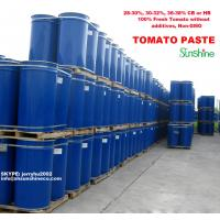 Buy cheap high quality tomato paste in drum steel  with 100% fresh tomato and non-GMO 28-30% Brix Cold break or hot break from wholesalers