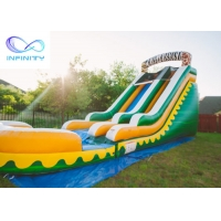 Buy cheap Commercial High Quality Giant Adults N Kids Yellow Inflatable Jungle Water Slides With Pool product