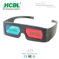 Buy cheap Promotional Adult Anaglyph 3D Red Blue Glasses For 3D Movies / 3D Pictures from wholesalers
