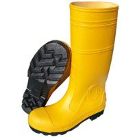 Buy cheap Anti Impact Safety Rain Boots / Yellow Rubber Work Boots For Mechanical Construction from wholesalers