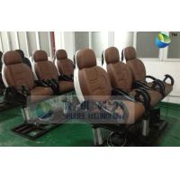 Buy cheap Pneumatic Brown Color Motion Theater Chair , Leather Fiber Glass product