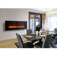 Buy cheap electric fireplace heater long linear contemporary Modern Flames wall mounted big size real coal log fuel decor home from wholesalers