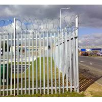 Buy cheap Zinc Plating Fences, Metal Type Palisade Fence / Security morden warehouse wall grill fence yard palisade outdoor from wholesalers