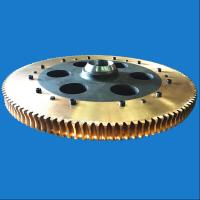 Buy cheap Transmission Parts Large Diameter Forged Brass Worm Gear With Steel Hub from wholesalers