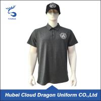 Buy cheap 120 Gsm Bright Black Custom Security Polo Shirts , Short Sleeve Polo Shirt from wholesalers