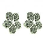 Buy cheap Stainless Steel Stud Earrings, Crystal Stud Earrings Crystal Flower Pave Stone Fashion Earrings For Gift from wholesalers