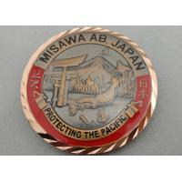 Buy cheap 3D Antique Copper Plating Brass American Personalized Coins for Awards, with Diamond Cut Edge from wholesalers