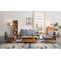 Buy cheap Northern Europe Solid Wood Frame With Seating Cushion Modern Furniture Sofa from wholesalers