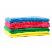 Buy cheap Color Coded 30*30CM Microfiber Towels For Glass Cleaning from wholesalers