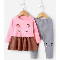 Buy cheap Baby outdoor clothing girls spring long-sleeved children's clothes baby girls spring suits from wholesalers