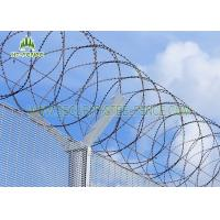 Buy cheap Powder Coated Concertina Razor Wire / Razor Sharp Wire 55 Coils And 5 Clips from wholesalers