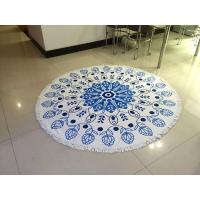 China Wholesale Large Custom Printed Round Beach Towel With Tassel, Circle Beach Towel on sale