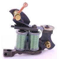Buy cheap small 10 wrap damascus steel tattoo machine with OEM accepted from wholesalers