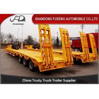 Multi-axle hydraulic Low Bed Trailers detachable gooseneck lowboy semi trailer 100 ton