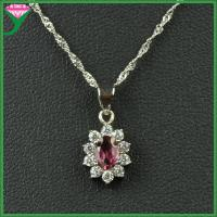 Buy cheap professional manufactured 925 sterling silver amethyst stone necklace pendent from wholesalers