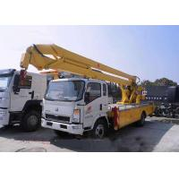 Buy cheap Sinotruk Howo Aerial Lift Truck , 8 - 24 Meters Height Aerial Bucket Truck from wholesalers