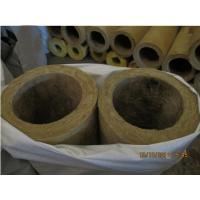 Buy cheap Rigid rock wool pipe insulation, rock wool pipe section product