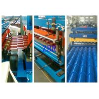 Buy cheap Steel Profile Galvanized Roofing Corrugated Sheet Roll Forming Machine 1 Inch Chain Drive product