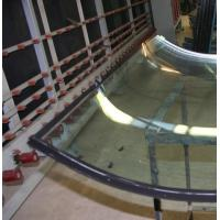 Buy cheap Color glass tempered, toughen 8 mm, 6 mm, edges polished, size 440 x 2255mm or customised (tolerances +0 mm, - 2 mm) from wholesalers