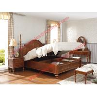 Buy cheap Ancient Rome style Solid Wood Bed with Storage in Bedroom Furniture sets from wholesalers