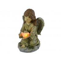 Buy cheap Resin 10.4 Inches Solar Led Angel Garden Stake Light from wholesalers
