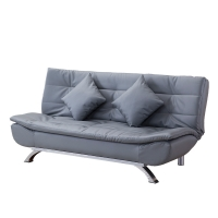 Buy cheap Faux Leather Folding Futon Sofa Bed With 2 Pillows from wholesalers