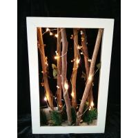 Buy cheap simulated led letter lightbox modern wooden frame lighting box from wholesalers