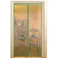 Buy cheap screen door curtain with magnetic, printed with beautiful logo from wholesalers