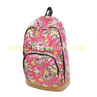 Buy cheap Floral Printed Canvas Backpack Fashion Girls School Bag Flowers Women rucksack from wholesalers