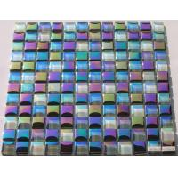 Buy cheap Rainbow Shining Crystal Glass Mosaic Tile, Iridescent Glass Mosaic Wall Tile from wholesalers