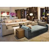 Buy cheap Elegant Wood Fabric Hotel Sofa Set High Back Couch / Chair For Lobby from wholesalers