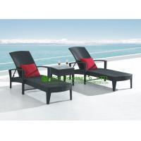 Buy cheap Modern Outdoor Black PE Rattan Sun Lounger With Pillow For Sale, Durable and Eco-friendly from wholesalers