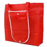 Buy cheap Red Non Woven Reusable Shopping Bags That Fold Into Themselves Recyclable from wholesalers