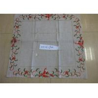 Buy cheap Christmas Design Linen Hemstitch Tablecloth Beautiful For Adult Age Group from wholesalers