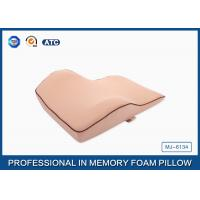 China Cervical Orthopedic Memory Foam Back Support Cushion For Back Pain / Lumbar Alignment on sale