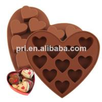 Quality reusable food grade Silicone Cake Moulds in heart shape for baking for sale
