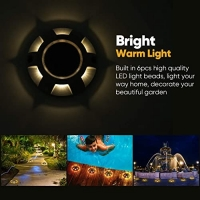 Buy cheap Driveway Dock  600mah 0.3W LED Solar Deck Lights FCC from wholesalers