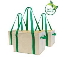 Buy cheap Heavy Duty Collapsible Recycle Shopping Bags With Fold Up Reinforced Bottom from wholesalers