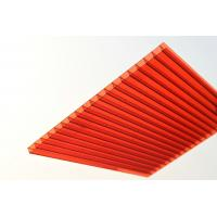 China Red Solid Polycarbonate Sheet / Durable Polycarbonate Patio Roof Panels on sale