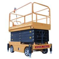 Buy cheap Scissor lift platform 500kg 11m movable hydraulic aerial elevated work platform from wholesalers