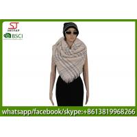 Buy cheap 230g 120*130cm 100%Acrylic woven jacquard grid poncho Hot sale  factory  keep warm fashion china supplying for women from wholesalers