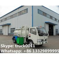 Buy cheap 2017s hot sale Dongfeng 3,000L kitchen garbage truck, factory sale best price dongfeng swill garbage truck for sale from wholesalers