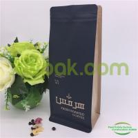 Buy cheap Custom Printed Aluminum Foil Block Bottom Bags / Side Gusset Coffee Packaging Bags With Valve from wholesalers