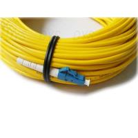 Buy cheap Single Mode 9/125 Simplex Optical Fiber Patch Cord With LSZH / OFNR / PVC Jacket from wholesalers